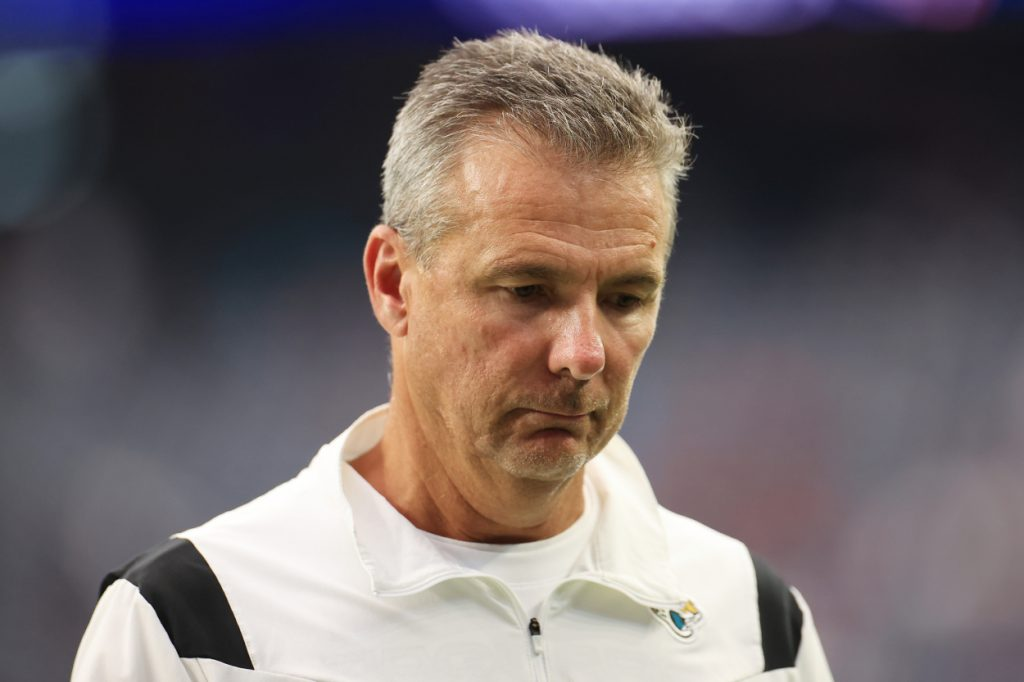 Jacksonville Jaguars head coach Urban Meyer during a game against the Texans.