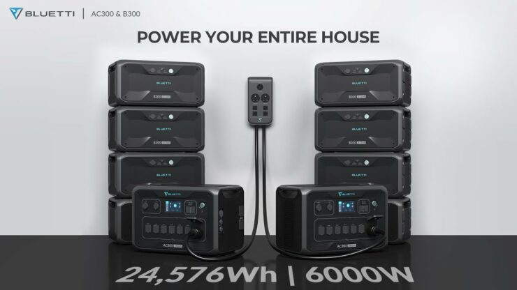 BLUETTI AC300 - The Latest Release - A Solar Power Station that Can Maximize At 6kW, 24.6kWh at 21% Off