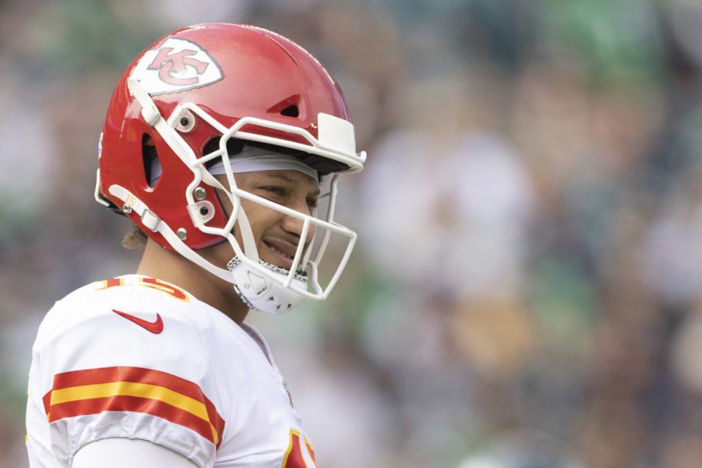 Kansas City Chiefs quarterback Patrick Mahomes against the Eagles in 2021.