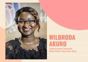 Wilbroda Akuro mothers2mothers Community Mentor Mother Team Leader in Kenya